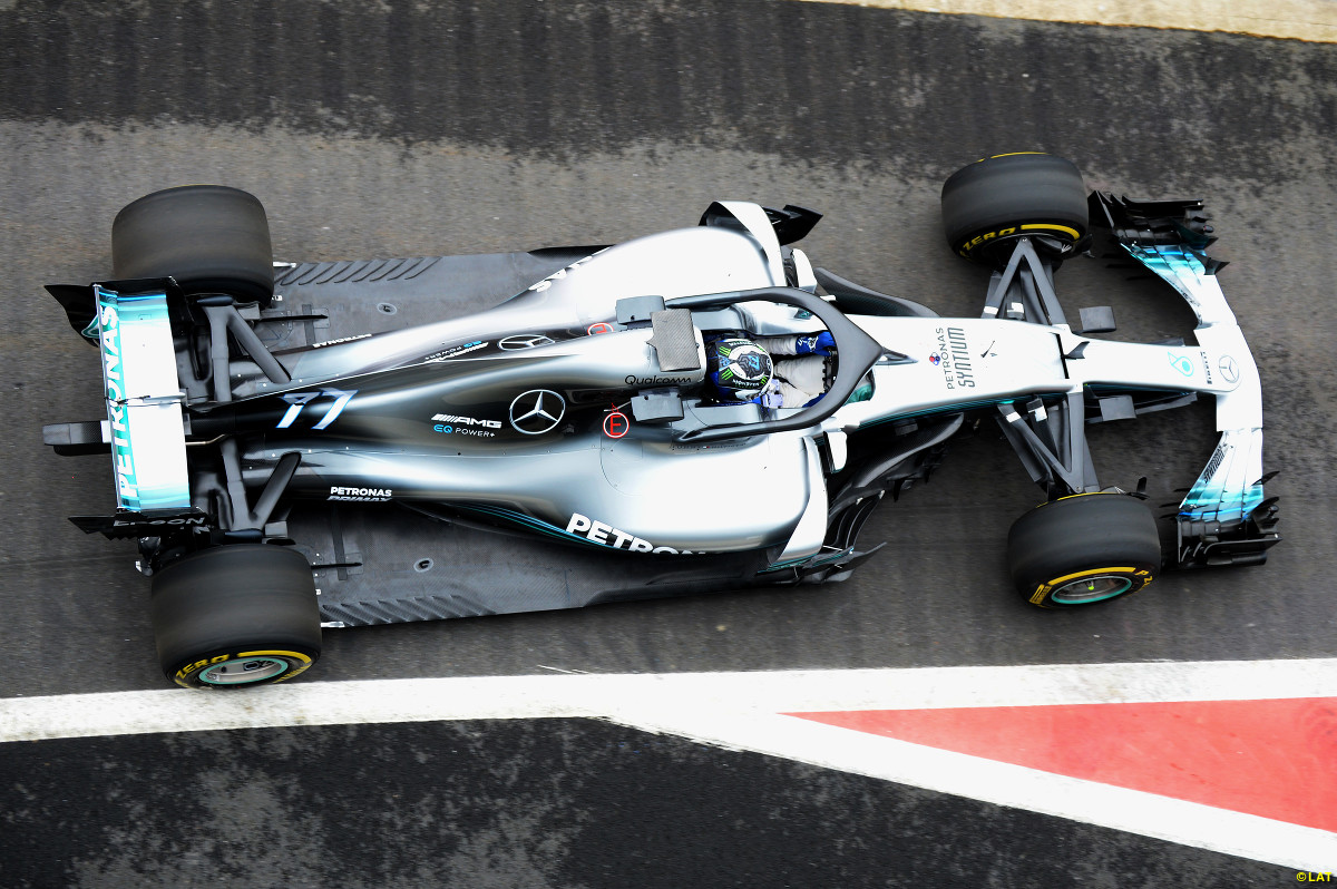 Mercedes F1 launch: 2018 W09 design hits track at Silverstone - F1 ...