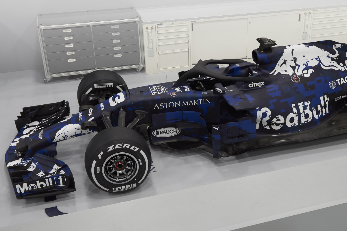4495943b45b Red Bull F1 launch  2018 RB14 revealed in temporary livery - F1 ...
